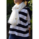 COTTON SILK LAWN STOLE WITH FEATHERS LACE TRIM