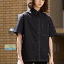 Bicolor half sleeve shirt