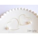 pearl × heart hoopピアス