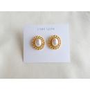 pearl × oval レトロピアス