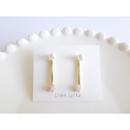【全4色】pearl × heart stick ピアス
