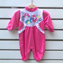 289.【USED】Pink Flower Rompers