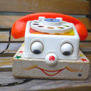 """193.【USED】61's Vintage """"Fisher Price"""" Chatter Telephone Toy(Made in U.S.A.)"""