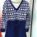 【USED】Vintage Knit V-neck Dress