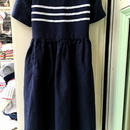 157.【USED】Linen & Cotton Sailor Dress (Made in U.S.A.)