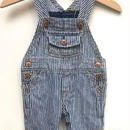 "【USED】""OSHKOSH"" Hickory Stripe Overall"