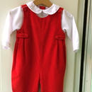 【USED】Red Corduroy Rompers
