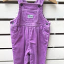 "132.三田【USED】""OSHKOSH""corduroy pastel purple overall"