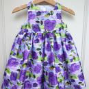 174.【USED】Formal  Purple Flower Print Dress