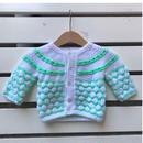 477.【USED】Light green Knit Cardigan