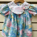 73.【USED】flower embroidery collar flower print Dress