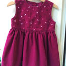 【USED】Flower motif purple Dress