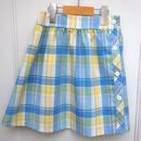 167.【USED】VINTAGE Pastel Check Skirt