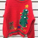 340.【USED】Christmas motif knit sweater
