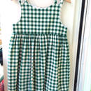 【USED】Green Gingham check dress (made in U.S.A.)