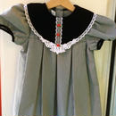 119.【USED】Black gingham check dress