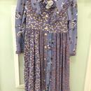 【USED】Purple flower print Dress