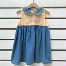 【USED】Denim  Flower design  Dress