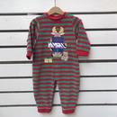 347.【USED】Reindeer Present Rompers(Made in U.S.A.)