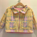 138.【USED】 check printed boa  jacket