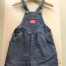 """【USED】""""OSHKOSH"""" OLD Design pink tag Denim Short Overall ( made in U.S.A.)"""