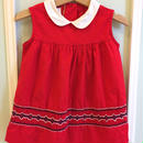 【USED】Red Sleeveless Collar Dress