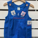 64.【USED】Boat & Ship motif Blue Rompers