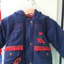 【USED】Heart tulip motif batting jacket