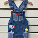 "【USED】""Tweety Bird"" Apple pickin Denim Dress"