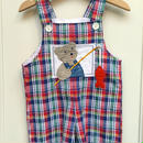 【USED】Check Bear Short Overall
