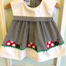 【USED】Black gingham Ladybird Dress