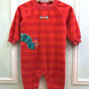 【USED】The very hungry caterpillar Romper / red