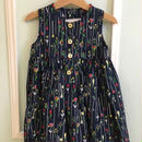 【USED】Tulip flower print dress (Made in U.S.A.)