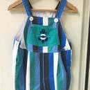 【USED】Anchor motif Stripe overall