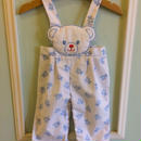 【USED】White bear Rompers