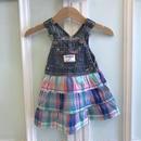 16.【USED】'OSHKOSH' Check design Jumper skirt