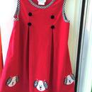 【USED】Dog motif Corduroy Dress