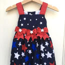 【USED】American tricolor star dress