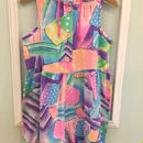 【USED】Colorful Sleeveless  romper
