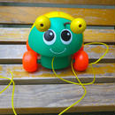 "197.【USED】82's Vintage ""Fisher Price"" Pull Along Ladybird (Made in U.S.A.)"