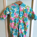 【USED】 Reversible Flower print Rompers