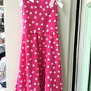 151.【USED】Dot Pink Dress