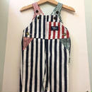"【USED】""OSHKOSH"" OLD Crazy pattern Stripe Denim Overall (Made in U.S.A.)"