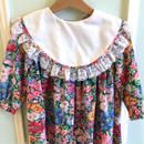【USED】Circle collar Flower print Dress(Made in U.S.A.)