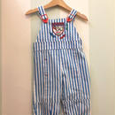 "【USED】"" Sporty Boy"" Stripe print Overall (Made in U.S.A.)"