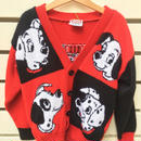 """【USED】""""101"""" motif knit cardigan (made in U.S.A.)"""