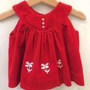 299.【USED】Vintage Flower motif Red dress