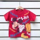 """3.【USED】""""MICKEY MOUSE"""" motif Red  T-shirts"""