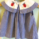 【USED】Ladybird Navy gingham Dress