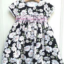 【USED】Black X White flower print dress